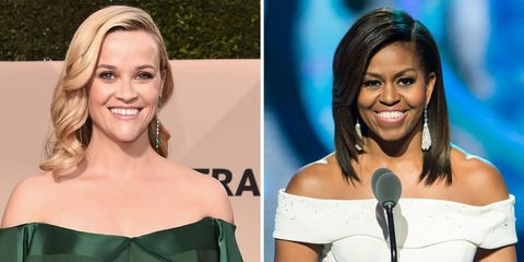 Reese Witherspoon and Michelle Obama