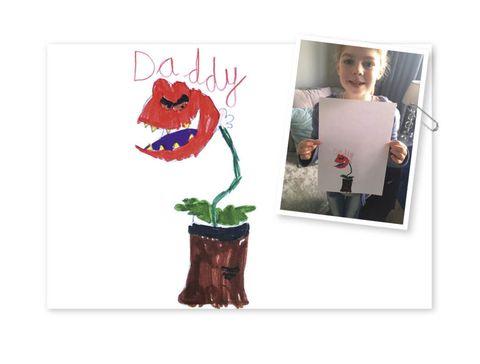 Flowerpot, Tooth, Illustration, Drawing, Plant stem, Vase,