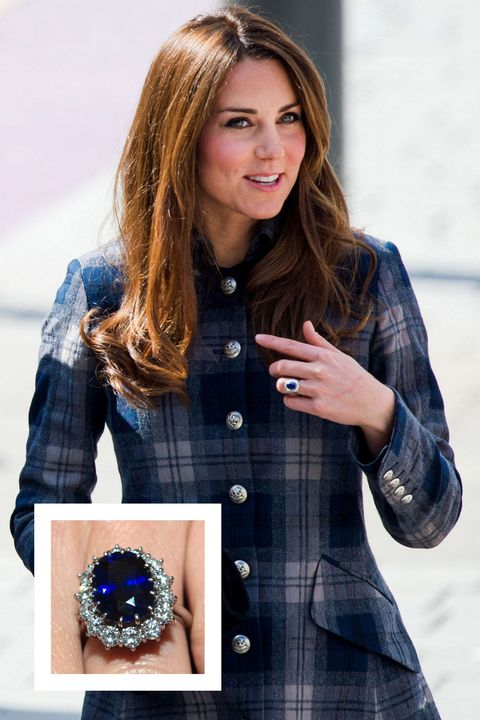 <p>Prince William proposed to then-Kate Middleton back in 2010 with a familiar ring: the gorgeous sapphire engagement ring that once belonged to his mother, Princess Diana. The ring features a 12-carat oval Ceylon centre stone surrounded 14 solitaire diamonds created by  royal jeweler Garrard.</p>