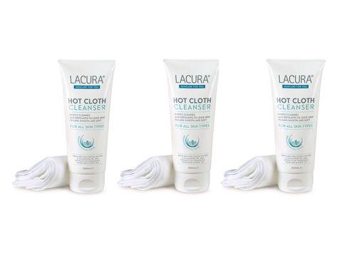 Aldi Lacura hot cloth cleanser