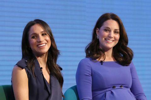 Meghan Markle and Kate Middleton blue dresses
