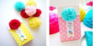 How to make pompom treat bags