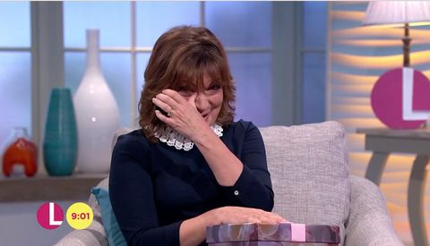 Lorraine Kelly, cries live on TV as daughter surprises her with Mother's Day present