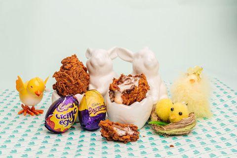 Deliveroo Deep-fried Creme Egg