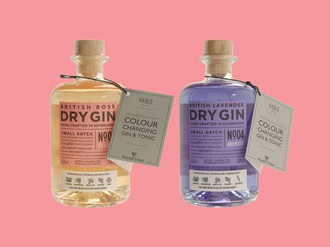 Marks & Spencer colour-changing gin
