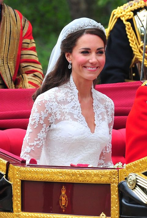 "<p>Tiaras are worn only to the fanciest of royal events, and typically, they're worn for the first time by brides. Kate Middleton borrowed Queen Elizabeth's <a href=""https://www.townandcountrymag.com/style/jewelry-and-watches/a19619266/meghan-markle-will-not-wear-cartier-halo-tiara-wedding-day/"" target=""_blank"">Cartier Halo tiara</a> for her wedding to Prince William in 2011, and she's even worn Princess Diana's tiara on several occasions. </p><p>But it's a privilege reserved for married women only — single women and children never wear them. 'It signals the crowning of love and the loss of innocence to marriage,' Geoffrey Munn, author of <a href=""http://www.amazon.com/gp/search?index=books&linkCode=qs&keywords=1851493751""><em data-redactor-tag=""em"">Tiaras - A History of Splendour</em></a>, said in an <a href=""https://www.forbes.com/sites/anthonydemarco/2013/12/19/tiara-etiquette-101-everything-kate-middleton-needs-to-know-about-wearing-one/"" target=""_blank"">interview with <em data-redactor-tag=""em"">Forbes</em></a><em data-redactor-tag=""em""></em><em data-redactor-tag=""em""></em>. 'The family tiara was worn by the bride, and from that moment onwards it was the groom's jewellery she was expected to wear. It was a subliminal message that she had moved from her own family to another.'</p><p>Given the tradition, it's likely that Meghan Markle will wear a tiara to wed Prince Harry in May, although which one is still unknown.</p>"