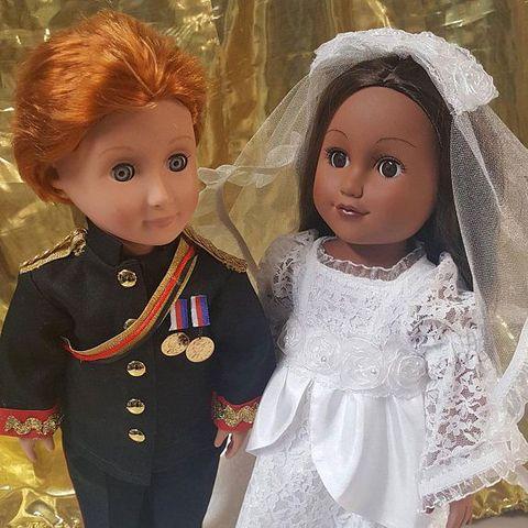 Head, Cheek, Eye, Toy, Doll, Dress, Embellishment, Fawn, One-piece garment, Brown hair,