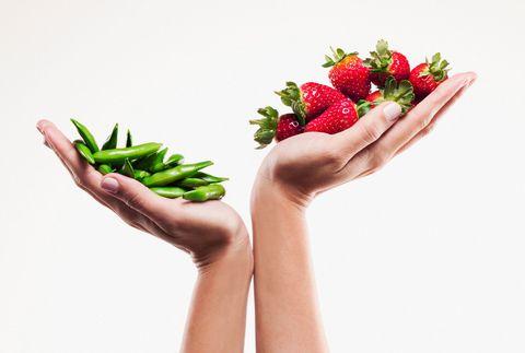 Food in hands