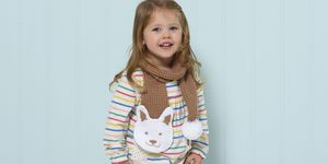 kids animal scarf; bunny scarf