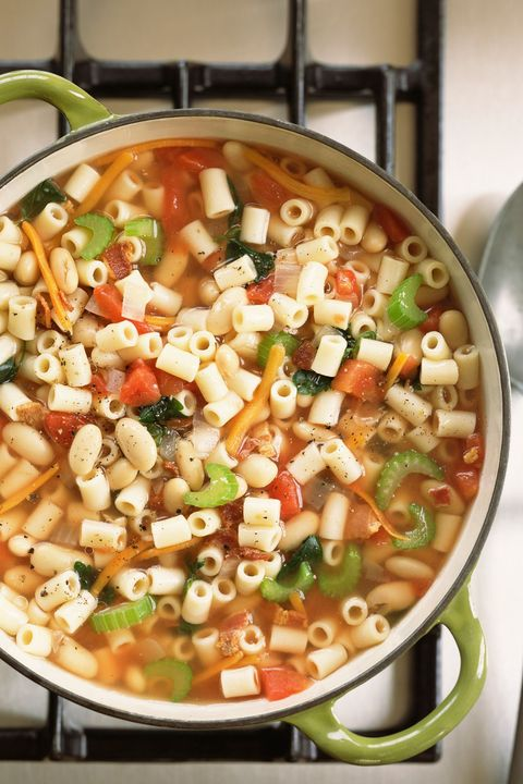 <p>Even though it's easy to meal plan around a protein, when meat takes on a supporting role (like in pasta e fagioli soup), you'll save major money.</p>