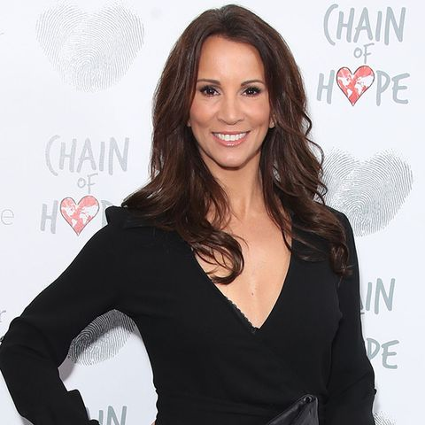 andrea mclean wows in stylish £45 puff sleeve dress from topshop