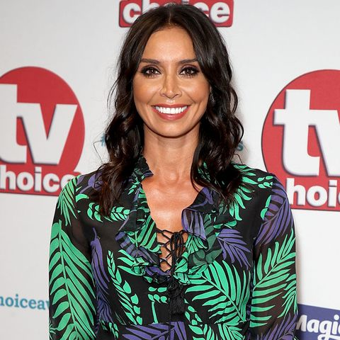 christine lampard is gorgeous in a green shirt dress   and it's only £3499