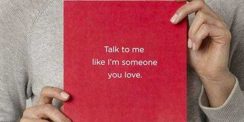 talk to me like you love me card