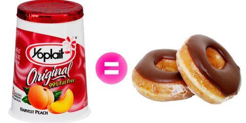 yogurt and doughnuts