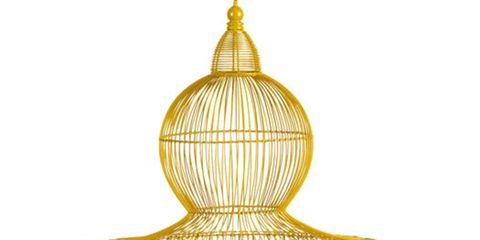 yellow birdcage