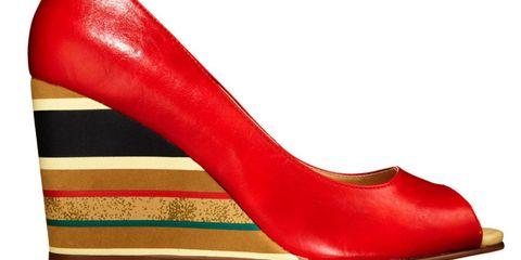 striped platform shoes