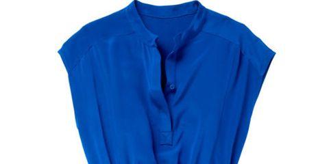 blue calvin klein tunic dress
