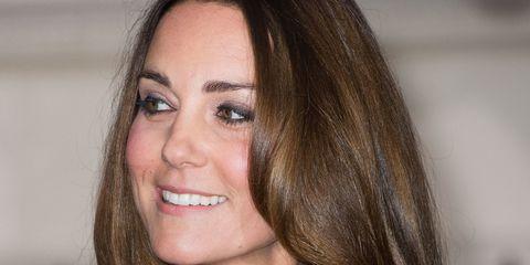 Extra-long locks: Kate Middleton