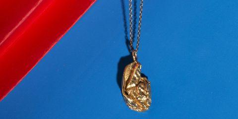 Chain, Electric blue, Pendant, Jewellery, Locket, Cobalt blue, Metal, Necklace, Macro photography, Ornament,