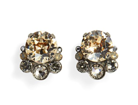 "Stunning vintage-y studs that can almost pass as the real thing. Earrings, $40; <a href=""http://www.sorrelli.com/store/products/display.do?id=ECW11ASGNS"" target=""_blank"">sorrelli.com</a>."