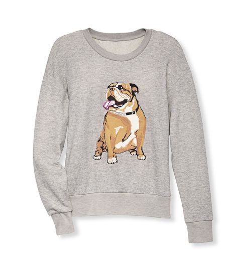 "We were panting as hard as this little guy when we laid eyes on this sweatshirt. Sweatshirt, I Heart Ronson, $44; <a href=""http://www.jcpenney.com/"" target=""_blank"">jcpenney.com</a>."