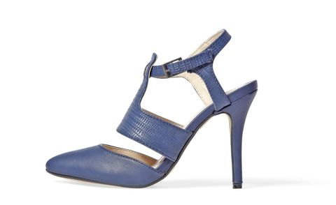 "True fact: Blue heels go all the places black ones do! Heels, $27.70; <a href=""http://www.gojane.com/102733.html"" target=""_blank"">gojane.com</a> (20% off with code 01RB20R)."