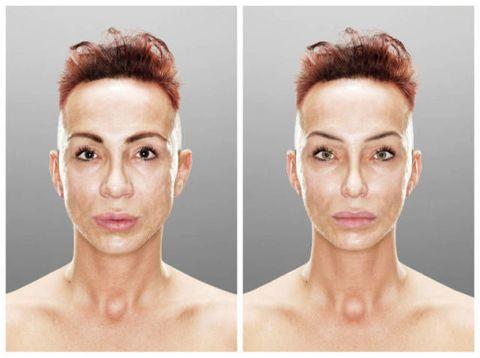 Ear, Lip, Cheek, Hairstyle, Skin, Chin, Forehead, Eyebrow, Eyelash, Joint,