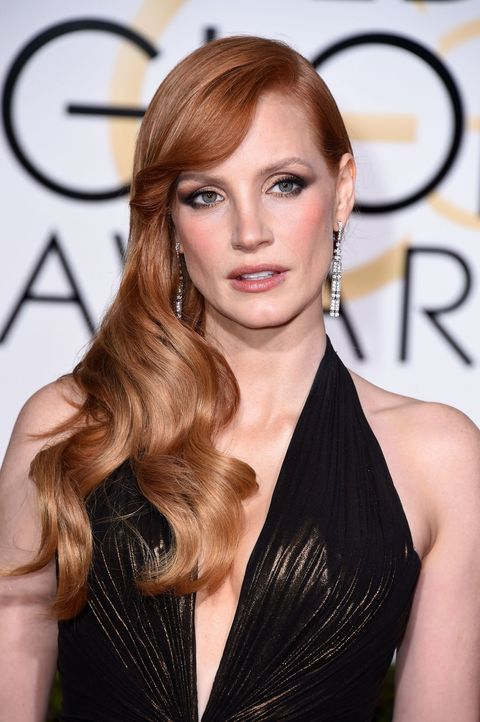 golden globe best hair jessica chastain
