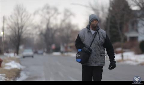 robertson walking to work