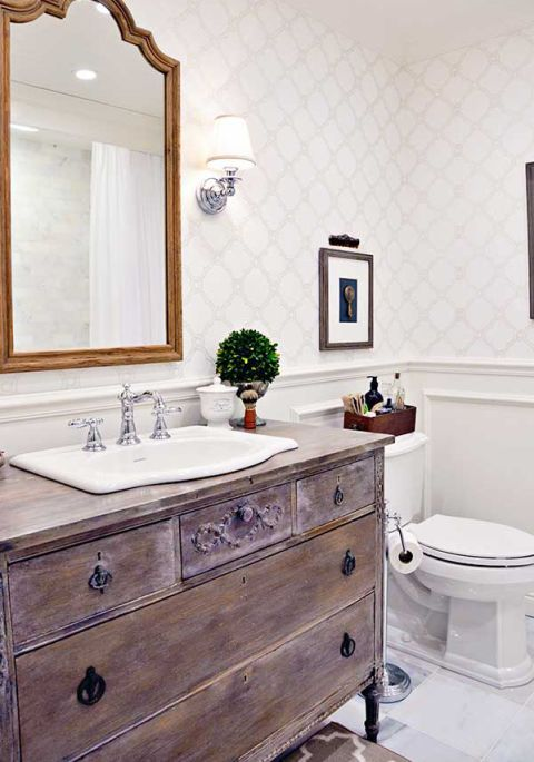 Use Vintage Furniture - 8 Budget-Friendly Ways To Make Your Bathroom Look Expensive