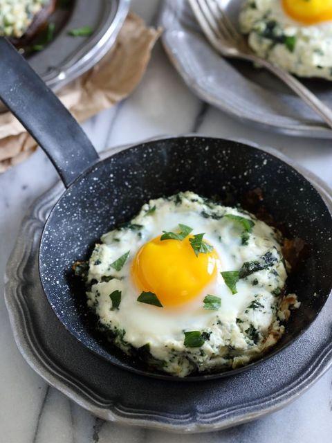 Portobello mushroom egg bake