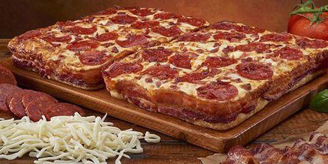 Little Caesars' Bacon Wrapped Crust DEEP!DEEP! Dish pizza