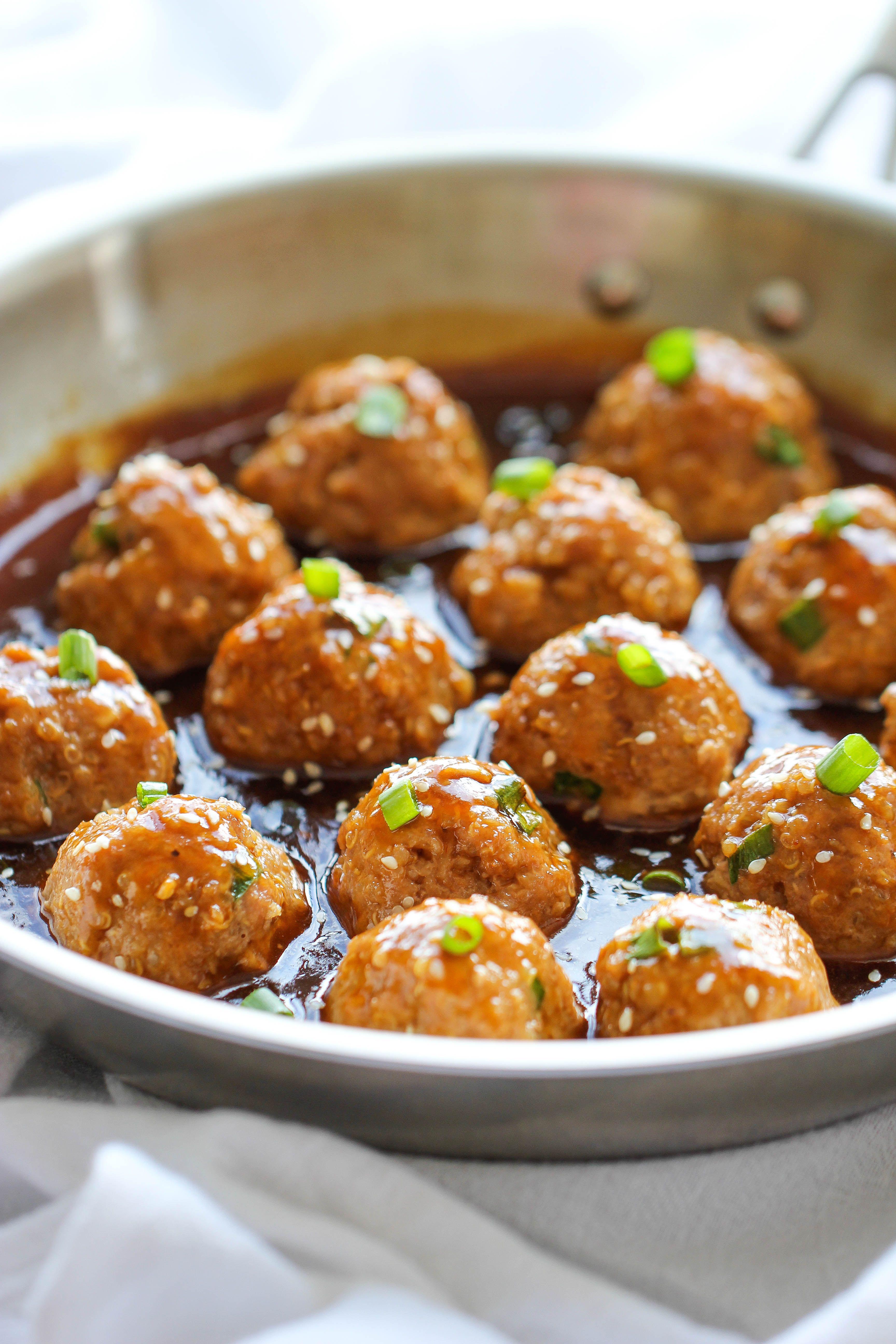 19 Delicious Quinoa Variations of Your Favorite Comfort Foods - asian quinoa meatballs