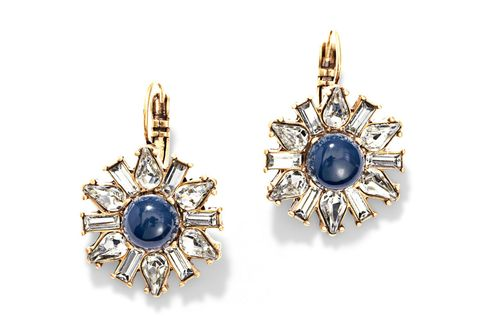 "These vintage-y stunners might make people think Liz Taylor was your godmother. Don't correct them. Earrings, $34; <a href=""https://www.chloeandisabel.com/products/E255/heritage-blossom-drop-earrings"" target=""_blank"">chloeandisabel.com</a> (20% off with code REDBOOK20)."
