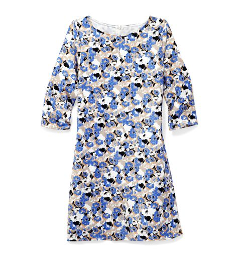 "Slip on this forgiving shift dress, then order up the double stack at brunch. Dress, Lila Clothing Company, $29.99; <a href=""http://www.modcloth.com/"" target=""_blank"">modcloth.com</a>."