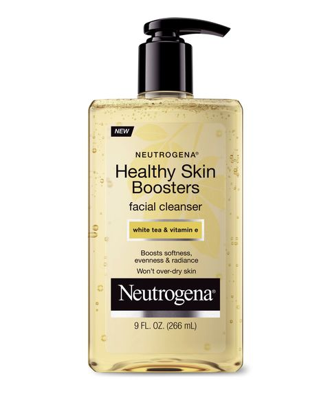 "Give skin a dose of nourishing vitamin E and other antioxidants every time you wash your face. <a href=""http://www.walmart.com/ip/Neutrogena-Healthy-Skin-Boosters-Facial-Cleanser-9-fl-oz/43269790"" target=""_blank"">Neutrogena Healthy Skin Boosters Facial Cleanser</a>, $7.50."
