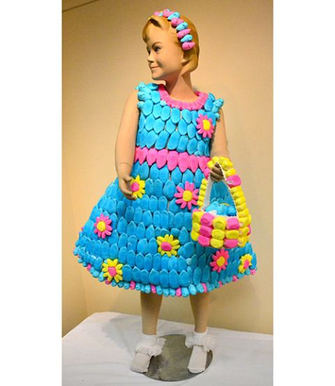 peeps flower girl dress