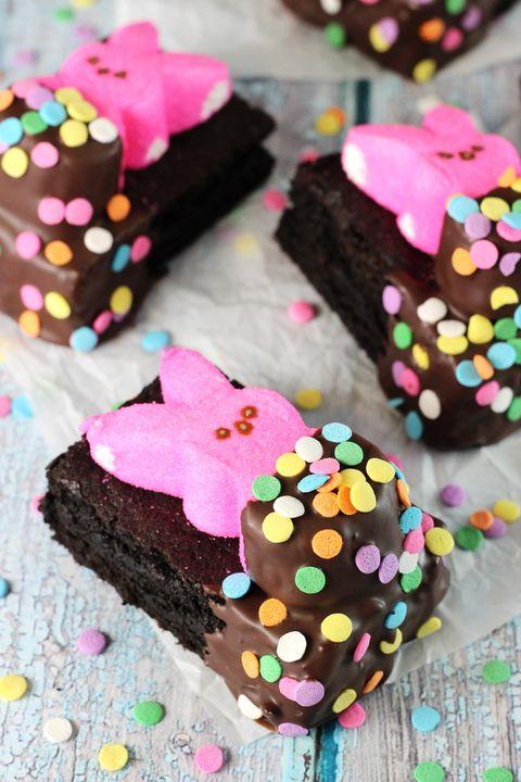 Bunny Peeps in a Blanket Brownies