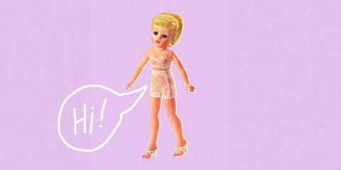 Toy, Pink, Doll, Wrist, Magenta, Tan, Lavender, Violet, Peach, Blond,
