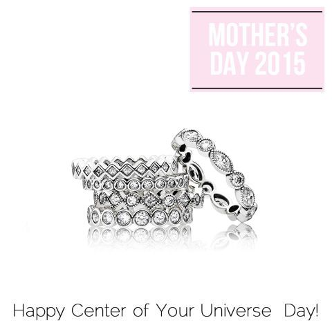 "Let her personality shine with a Pandora ring in genuine sterling silver or artfully stack it with other rings to create a look that's uniquely hers. Mother's Day is the perfect time to start her collection. Rings By Pandora, starting at $60&#x3B; <a target=""_blank"" href=""http://www.pandora.net/en-us/explore/products/rings"">Pandora</a>."