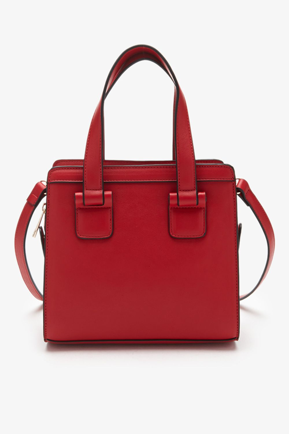 Long Strap Faux Leather Satchel, $27.90; Forever 21.