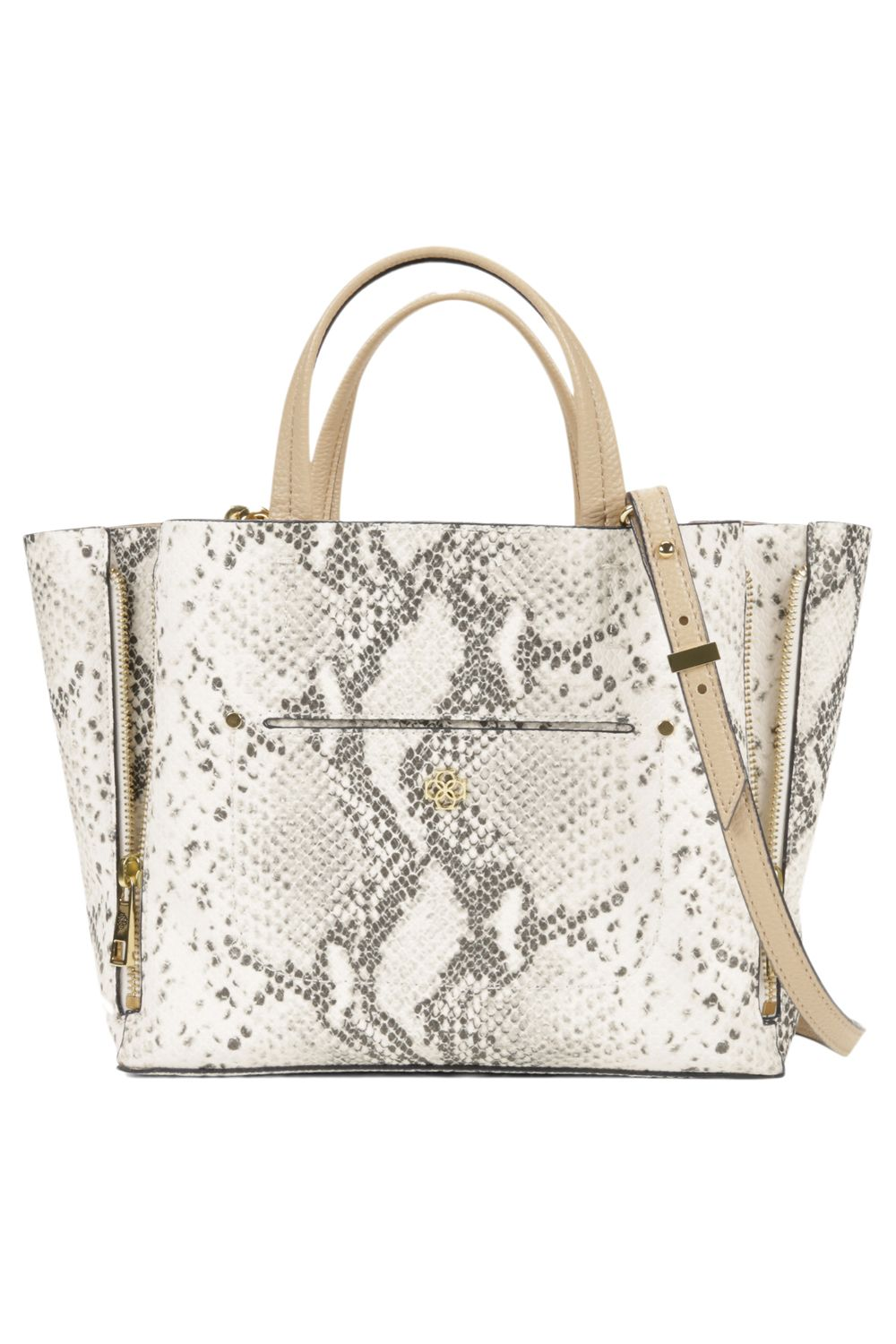 Mini Exotic Embossed Signature Tote, $118; Ann Taylor.