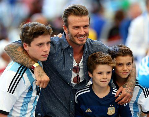 David Beckham and kids