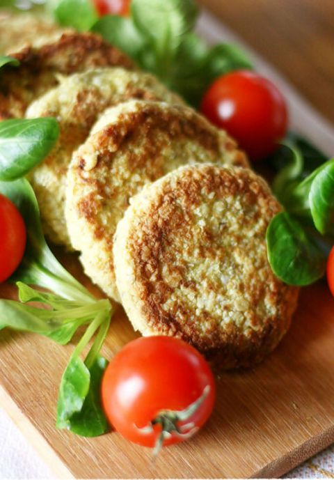 Cauliflower And Chickpea Patties With Chia Seed