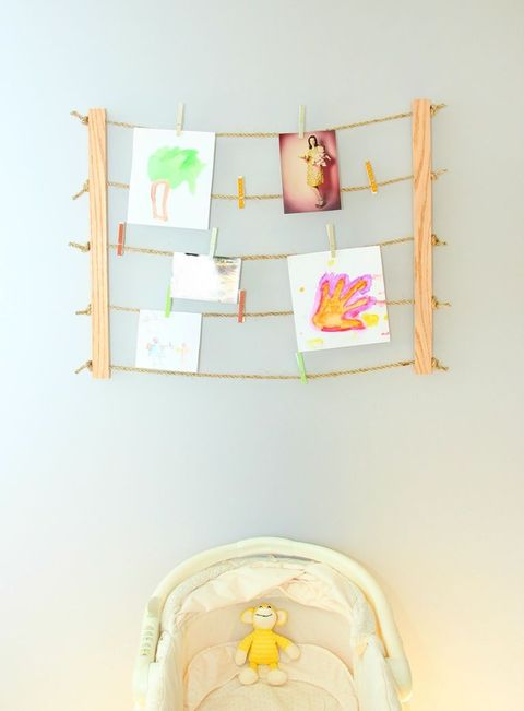 Make a clothesline display