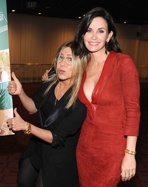 best friend celebrities - jennifer aniston and courtney cox