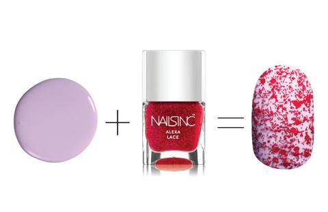 Риммел London 60 Seconds Nail Polish in Sweet Lavender, $2 + Nails Inc nail polish in Alexa Lace, $15