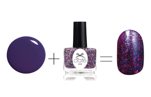 Путер London Nail Lacquer in Marrow, $15 + Ciaté Mini Nail Polish in Fancy Pants, $9