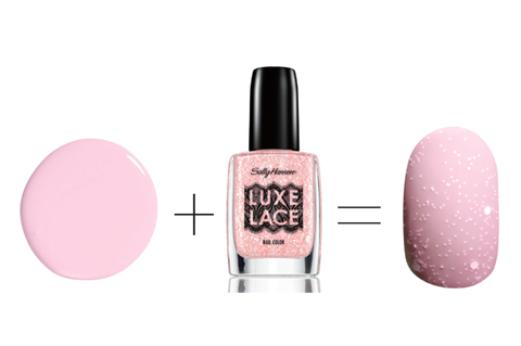 Цханел Le Vernis Nail Colour in Ballerina, $27 + Sally Hansen Luxe Lace in Intimate, $9.99
