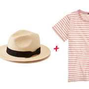 Fashion Formula: Panama Hat + Striped Tee + Culoette